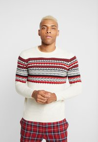 Only & Sons - ONSRAMMER CHEST - Pullover - oatmeal - 0