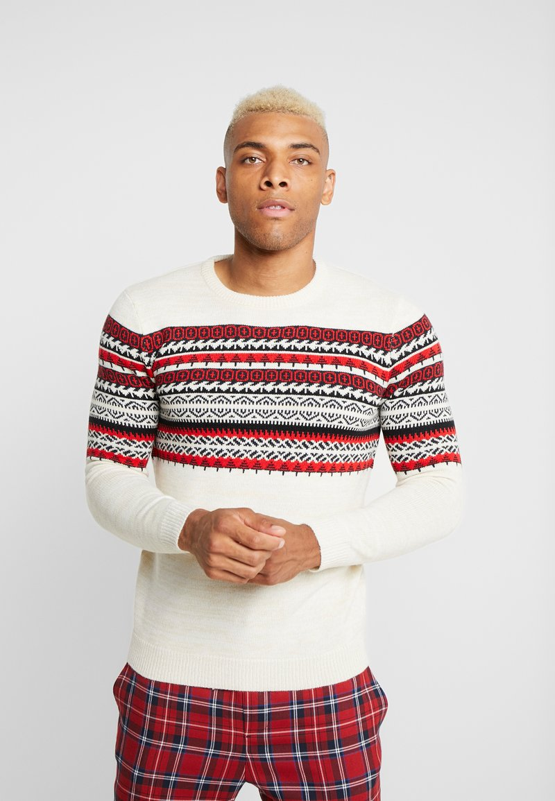 Only & Sons - ONSRAMMER CHEST - Pullover - oatmeal