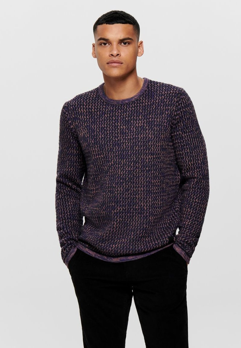 Only & Sons - ONSRICHARD - Trui - pink taupe
