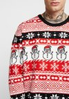 Only & Sons - ONSXMAS MARTIN ALL OVER - Strickpullover - pompeian red