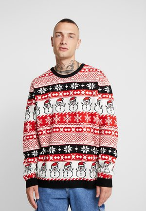 ONSXMAS MARTIN ALL OVER - Jumper - pompeian red