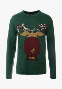 Only & Sons - ONSXMAS FUNNY BADGE - Strickpullover - cilantro - 3