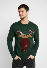 Only & Sons - ONSXMAS FUNNY BADGE - Strickpullover - cilantro - 0