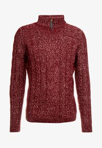 Only & Sons - HIGH NECK ZIPPER - Neule - cabernet - 4