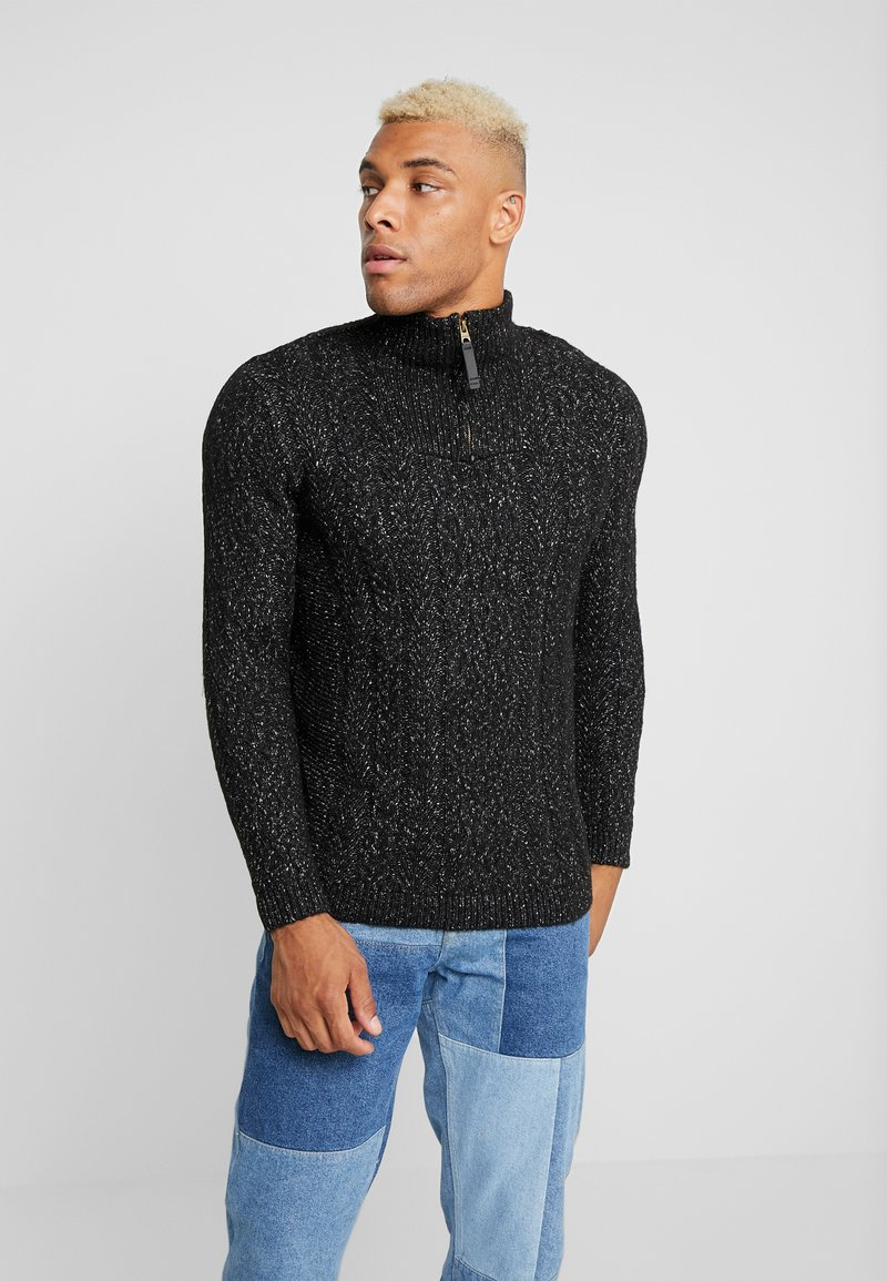 Only & Sons - HIGH NECK ZIPPER - Maglione - black