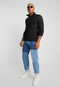 Only & Sons - HIGH NECK ZIPPER - Maglione - black - 1