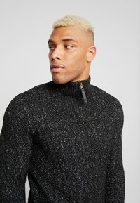 Only & Sons - HIGH NECK ZIPPER - Maglione - black - 4