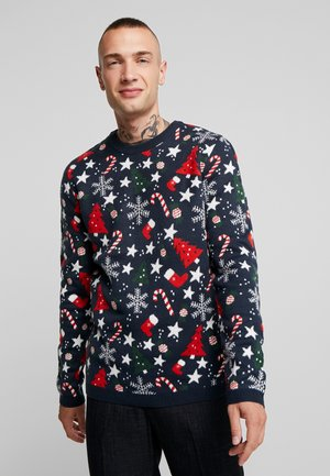 ONSXMAS HOMAS CREW NECK - Strickpullover - blue nights
