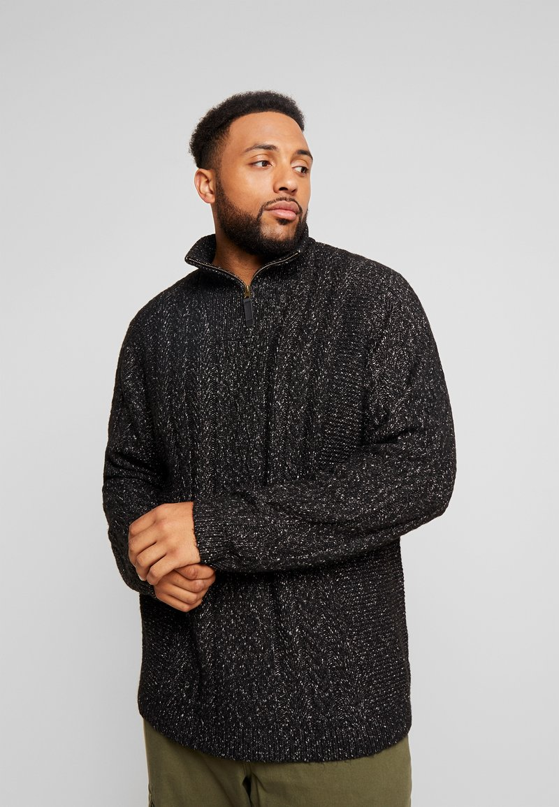 Only & Sons - ONSPHIL HIGH NECK ZIPPER  - Sweter - black