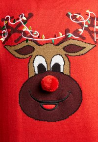 Only & Sons - ONSXMAS FUNNY BADGE - Jumper - pompeian red - 5