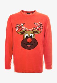 Only & Sons - ONSXMAS FUNNY BADGE - Jumper - pompeian red - 4