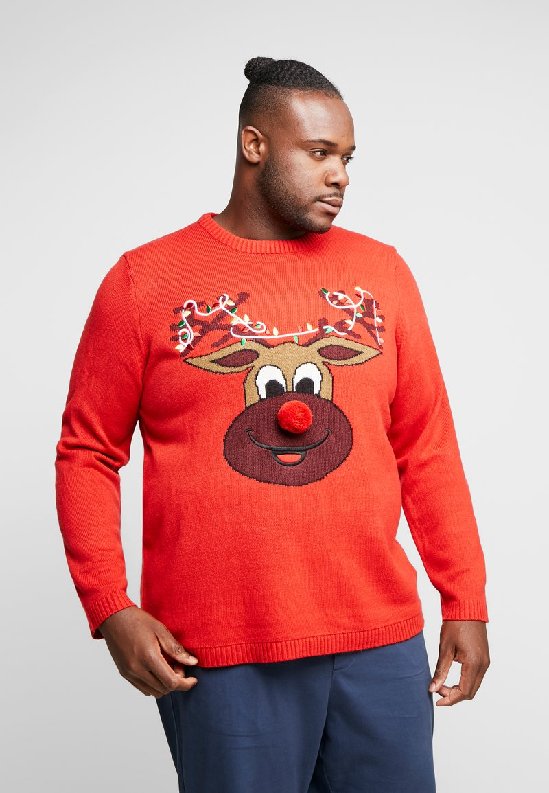 Only & Sons - ONSXMAS FUNNY BADGE - Jumper - pompeian red