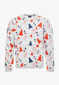 Only & Sons - ONSXMAS HOMAS CREW NECK - Jumper - light grey melange - 4