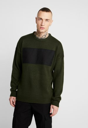 ONSROCCO OVERSIZE PATCH - Pullover - rosin