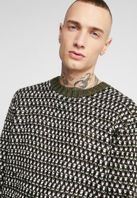 Only & Sons - ONSZIGOR CHUNKY CREW NECK - Jumper - olive night - 4
