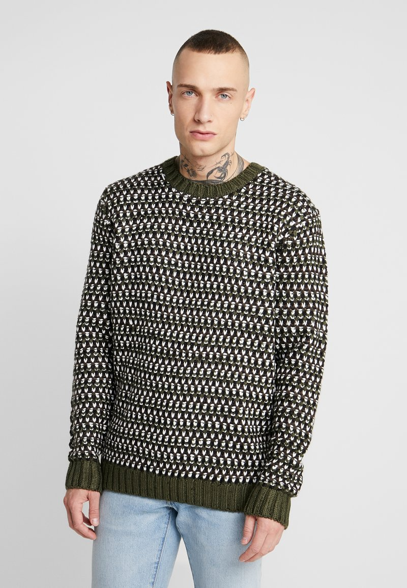 Only & Sons - ONSZIGOR CHUNKY CREW NECK - Jumper - olive night