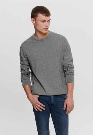 ONSALEX SMALL STRIPE - Trui - grey