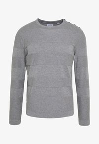 Only & Sons - ONSNIGEL CREW NECK - Strikkegenser - medium grey melange - 3