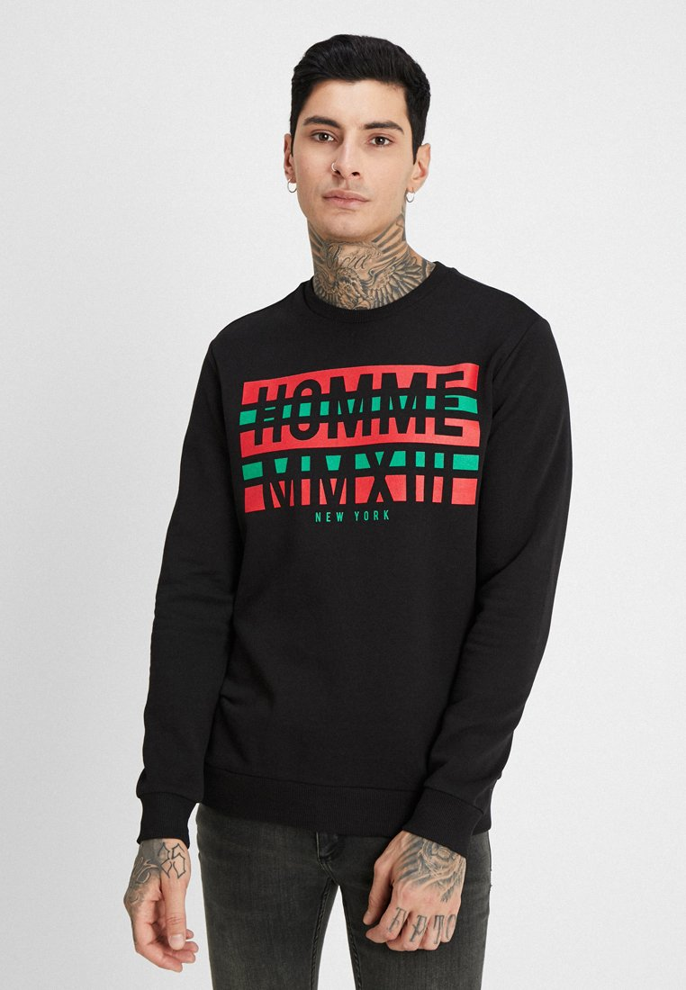 Only & Sons - ONSSAND CREW NECK SWEAT - Sweatshirt - black