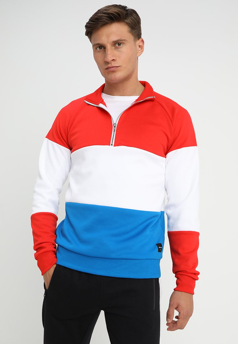 Only & Sons - ONSWILLIAM COLORBLOCK TRACK - Sweatshirt - high risk red