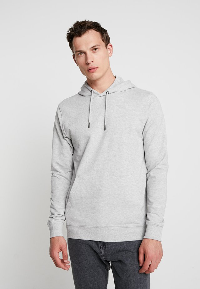 ONSBASIC HOODIE UNBRUSHED - Bluza z kapturem - light grey