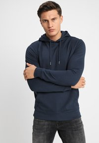 Only & Sons - ONSBASIC HOODIE UNBRUSHED - Felpa con cappuccio - blue nights - 0