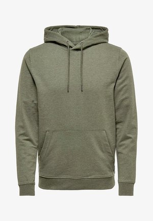 ONSBASIC HOODIE UNBRUSHED - Bluza z kapturem - olive night