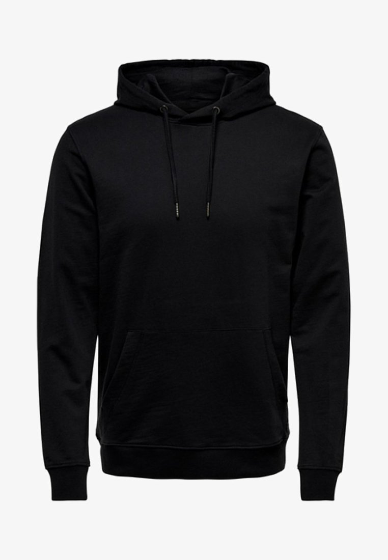 Only & Sons - ONSBASIC HOODIE UNBRUSHED - Kapuzenpullover - black
