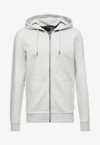 Only & Sons - ONSBASIC ZIP HOODIE UBRUSHED - Zip-up hoodie - light grey melange - 4