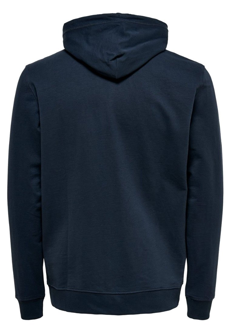 Only & Sons ONSBASIC ZIP HOODIE UBRUSHED - Felpa aperta - blue nights