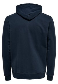 Only & Sons - ONSBASIC ZIP HOODIE UBRUSHED - Sweatjakke /Træningstrøjer - blue nights - 1