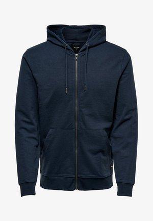 ONSBASIC ZIP HOODIE UBRUSHED - Zip-up hoodie - blue nights