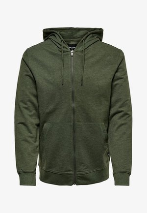 ONSBASIC ZIP HOODIE UBRUSHED - Zip-up hoodie - olive night