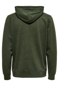 Only & Sons - ONSBASIC ZIP HOODIE UBRUSHED - Zip-up hoodie - olive night - 1