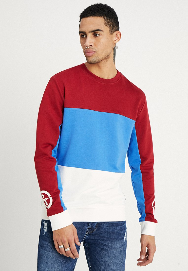 Only & Sons - ONSCLEMENS COLORBLOCK - Sweatshirts - red dahlia
