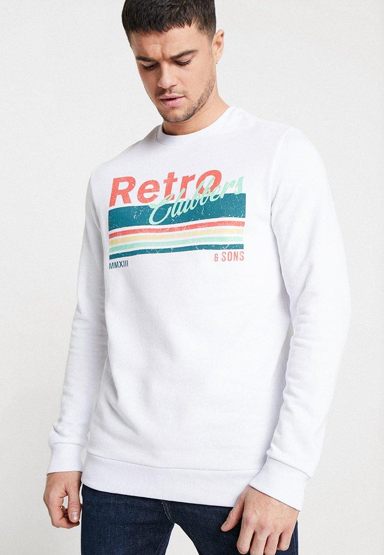 Only & Sons - ONSSTAM CREW NECK - Sweatshirt - white