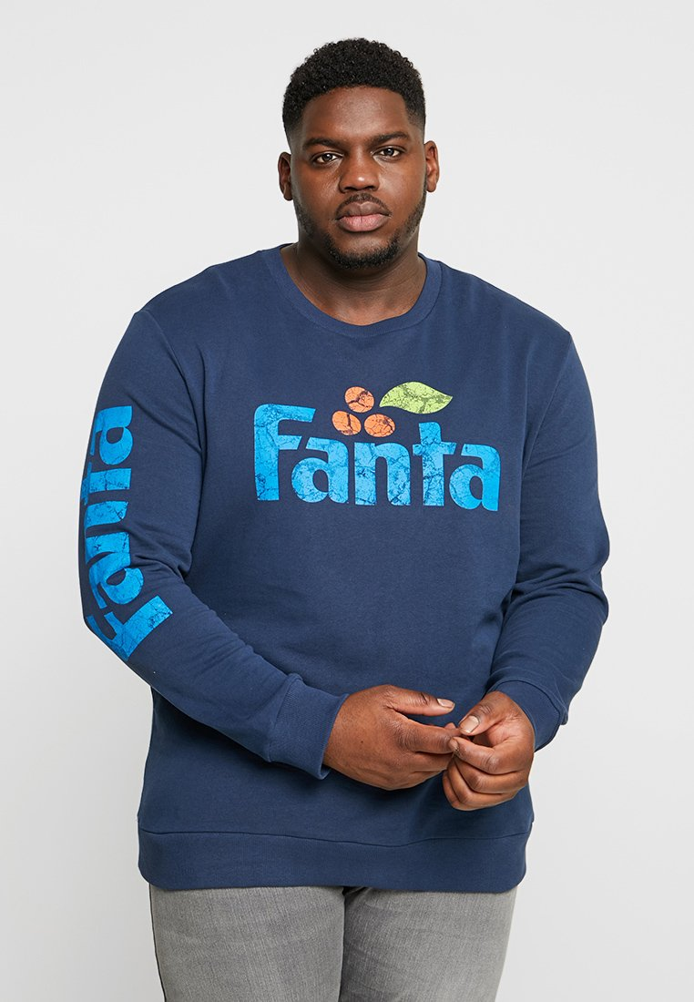 Only & Sons - ONSFRESH COLA CREW PLUS SIZE - Sudadera - dress blues