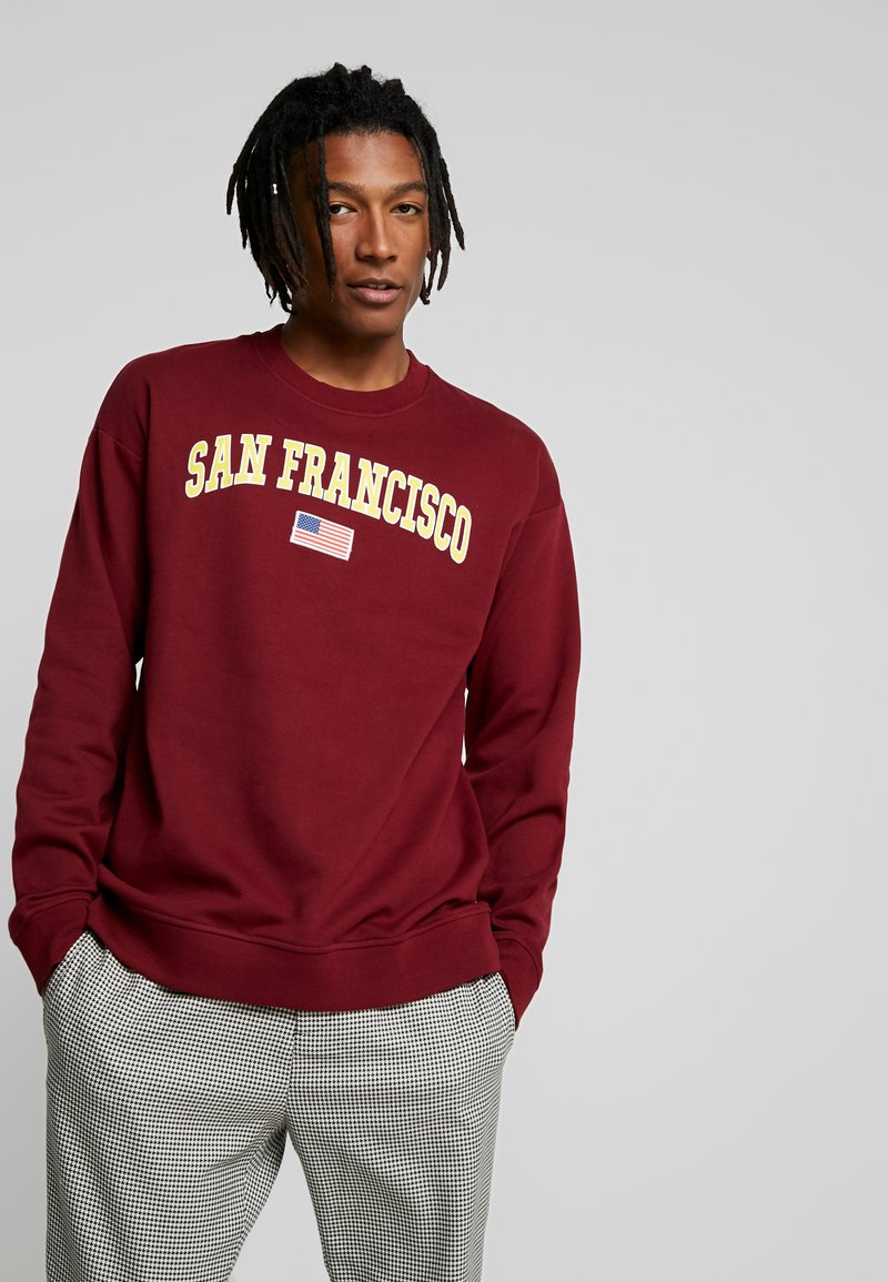 Only & Sons - ONSTIGER OVERSIZED CREW SWEAT - Sweatshirts - cabernet