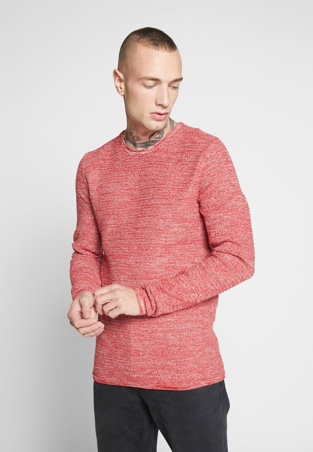 ONSWICTOR STRUCTURE CREW NECK - Jumper - pompeian red