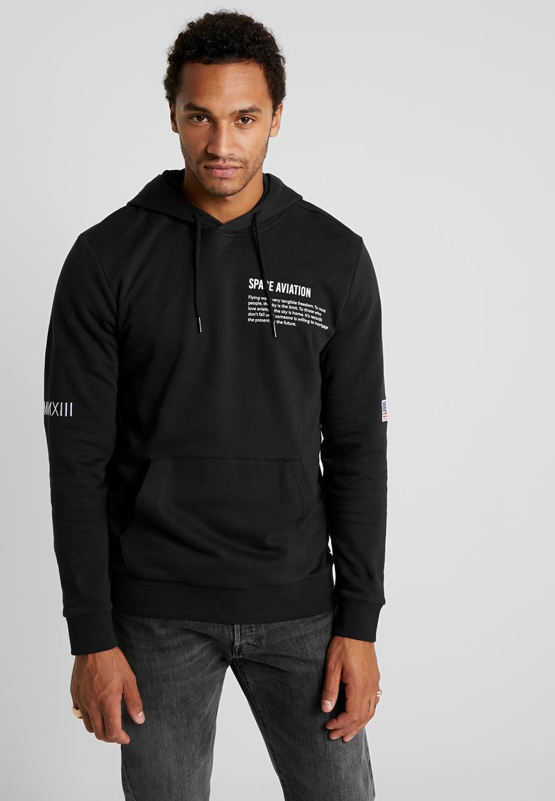 Only & Sons - ONSSPACE HOODIE - Jersey con capucha - black