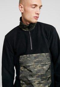 Only & Sons - ZIP HIGH NECK - Fleece trui - black - 4