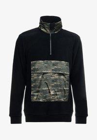 Only & Sons - ZIP HIGH NECK - Fleece trui - black - 3