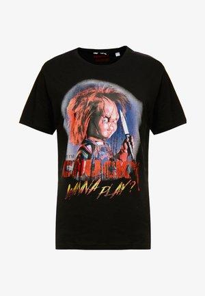 ONSCHUCKY REGULAR TEE - T-shirt con stampa - black