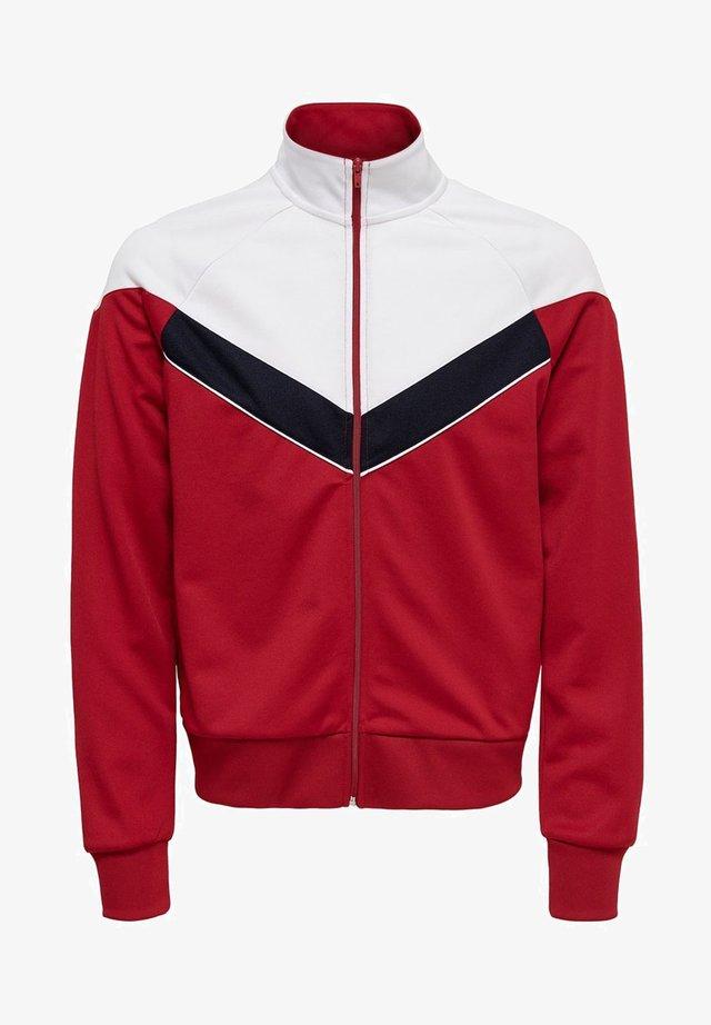ONSSHIRO TRACK ZIP SWEAT - Sweatjacke - red