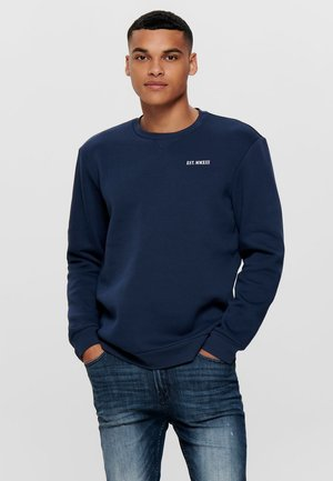 EINFARBIGES - Sweatshirt - dress blues