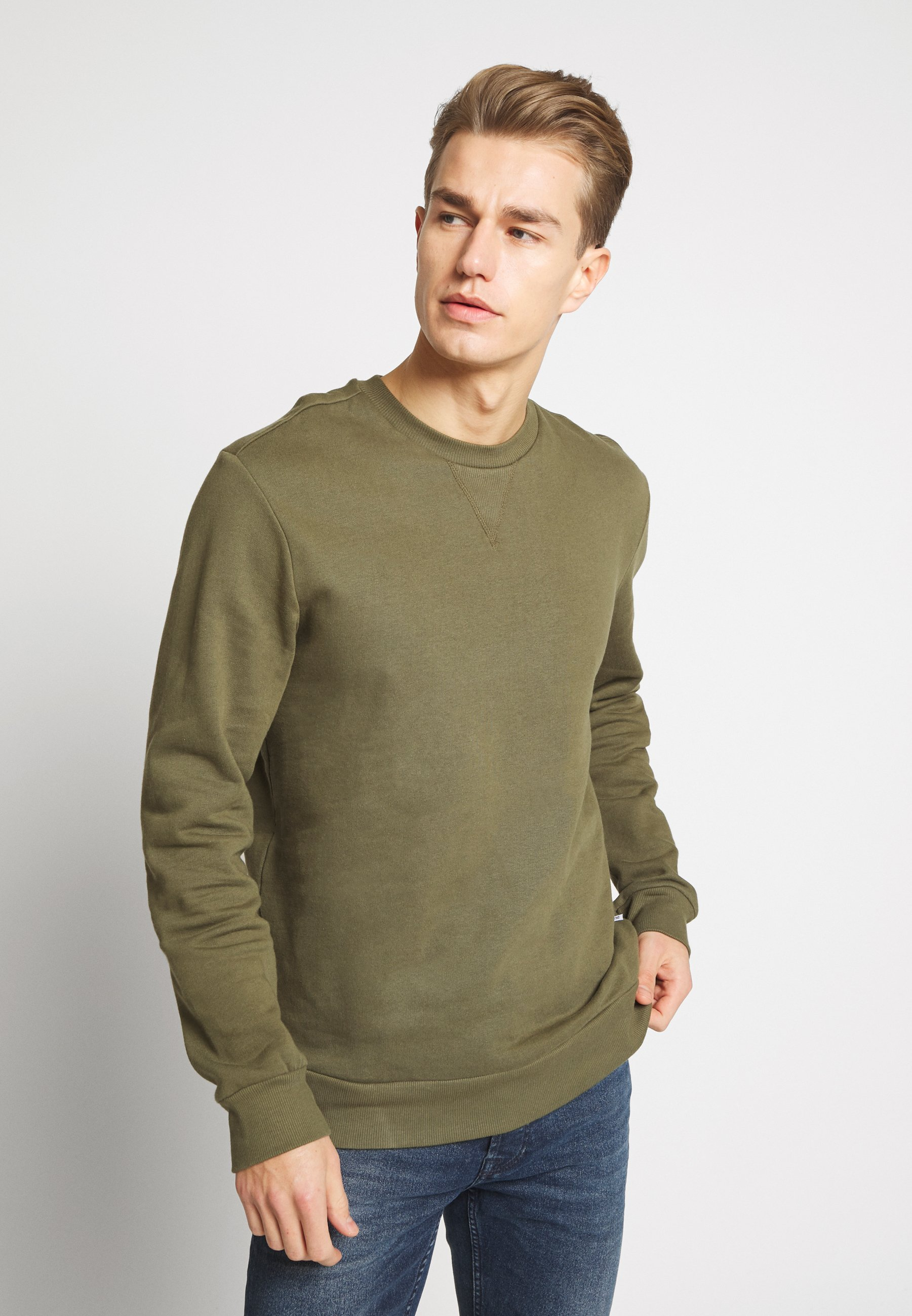Only & Sons ONSORGANIC CREW NECK - Bluza - olive night