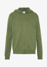 Only & Sons - ONSORGANIC REG  ZIP HOODIE  - Bluza rozpinana - olive night - 4