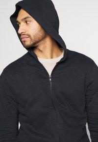 Only & Sons - ONSORGANIC REG  ZIP HOODIE  - Zip-up hoodie - black - 3