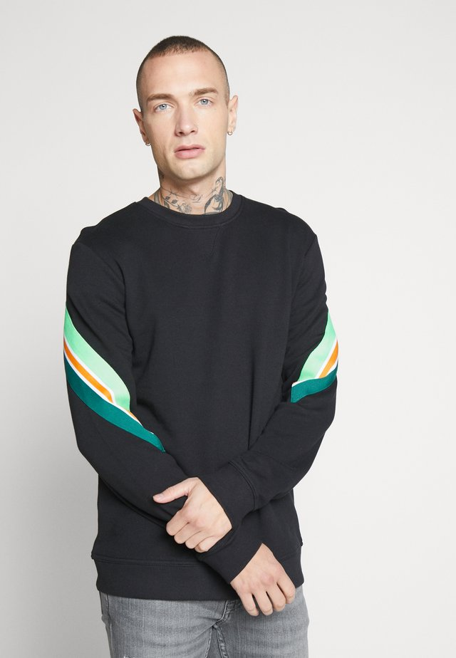 CREW NECK - Sudadera - black