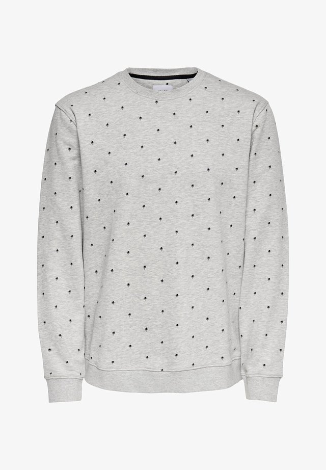 SWEATSHIRT GEPUNKTETES - Sudadera - light grey melange